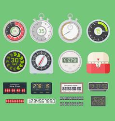 timer clocks watch symbol hour stopwatch vector image vector image