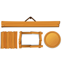 different templates for wooden board vector image vector image
