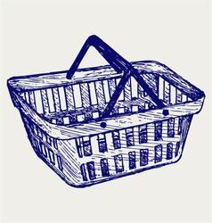 Plastic basket vector image