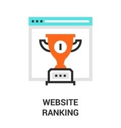 website ranking icon vector image