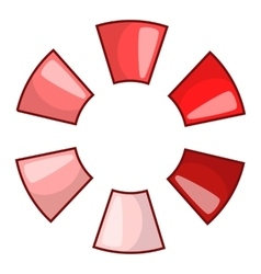 Abstract red circle icon cartoon style vector image