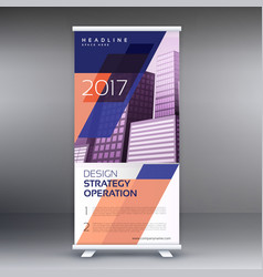 Abstract roll up banner or standee design vector