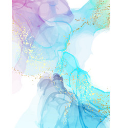 Abstract watercolor blue marble painting modern vector