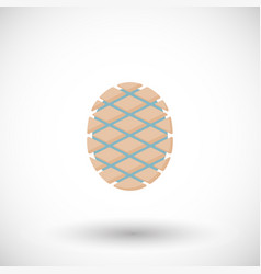 Agave core or heart flat icon vector