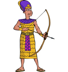 ancient egyptian warrior vector image