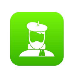 artist icon digital green vector image
