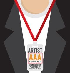 Artist Pass Lanyard vector image