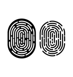 black and white fingerprint vector image