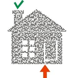 Black labyrinth house vector image