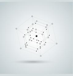 black polyhedron 3d vector image
