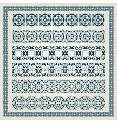 Border decoration elements vector image