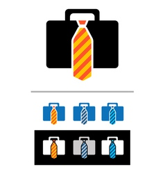 Briefcases icons vector