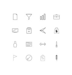 business linear thin icons set outlined simple vector image