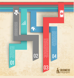 Business steps infographics vector