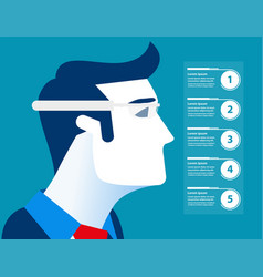 Businessman and glasses technology future vector