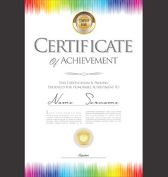 Certificate or diploma retro template 05 vector