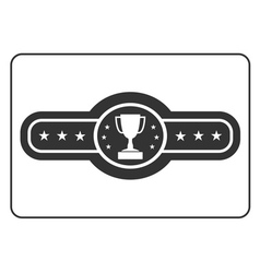 Champion belt icon 3 vector