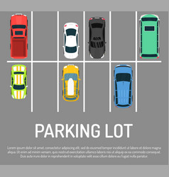 city car parking top view of vector image