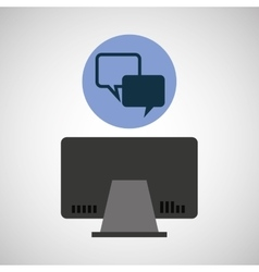 Computer device bubble speech network icon vector