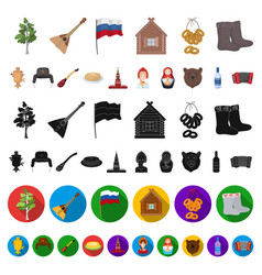 Country russia travel cartoon icons in set vector