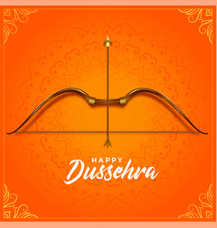 Cultural happy dussehra bow and arrow festival vector