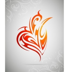 Design element as tattoo shape vector image