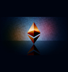 Ethereum eth cryptocurrency token symbol coin vector