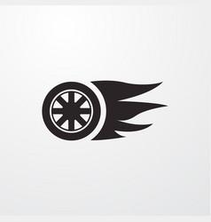 Fast wheel drive sign icon wheel drive vector