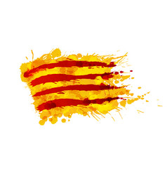 flag catalonia made colorful splashes vector image