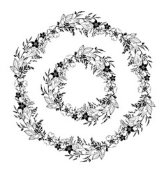 floral garland vector image