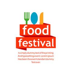 Food festival template design vector