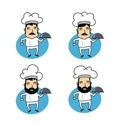 Funny cartoon chef vector