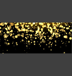 gold blurred banner on black background vector image