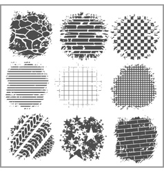 Grunge backgrounds - bricks tire tracks and vector image