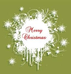 grunge christmas background 2609 vector image