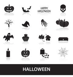 halloween icons set eps10 vector image