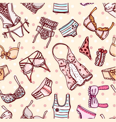 Hand drawn icons underwear vector