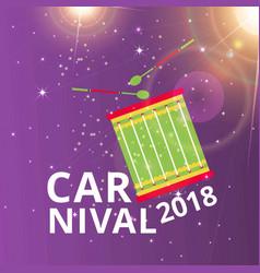 happy brazilian carnival day carnival typography vector image