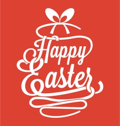 Happy Easter calligraphy vector image