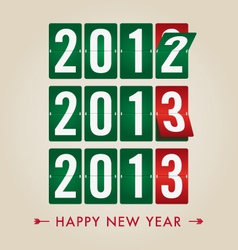 happy new year 2013 mechanical count style vector image