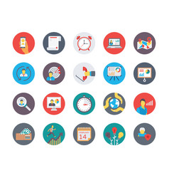 human resources flat circular icons set 2 vector image