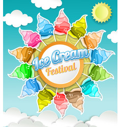 ice cream festival concept in vector image