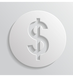 Icon dollar vector image