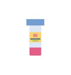 insulin bottle - clear plastic glass test tube vector image
