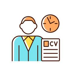 Job applicant rgb color icon vector