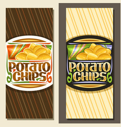 Layouts for potato chips vector