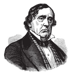 lewis cass vintage vector image