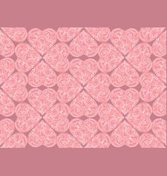 line art lve hearts seamless pattern valentine vector image