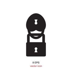 Lock Black And White Icon vector image