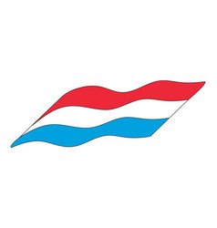 luxemborg flag simple icon design isolated on vector image